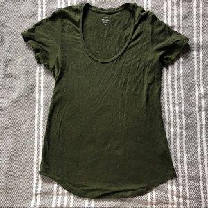 J. Crew Linen Scoopneck T-Shirt